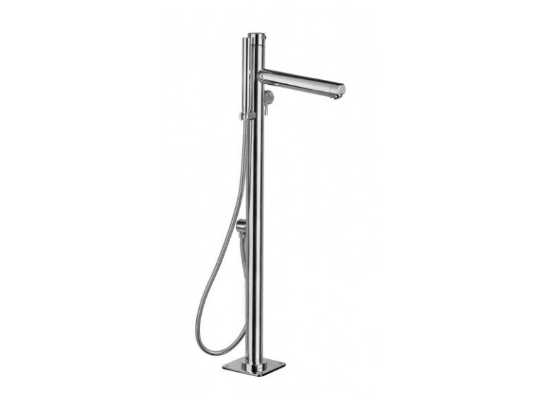 Floor standing stainless steel bathtub mixer with hand shower THETYS INDOOR by Ama Luxury Shower