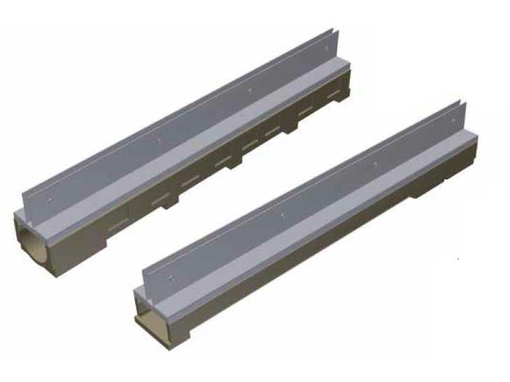 Concrete Drainage channel and part THIN - BASE100 / MODEL by GRIDIRON GRIGLIATI