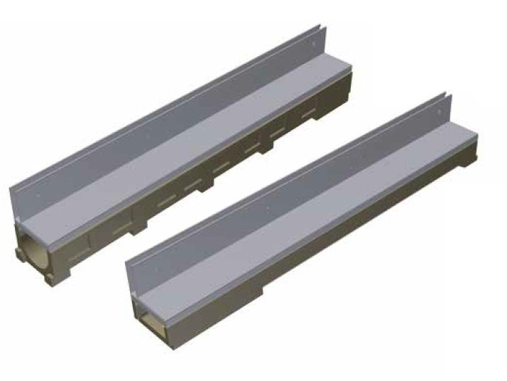 Concrete Drainage channel and part THIN - BASE100 / MODEL by GRIDIRON GRIGLIATI