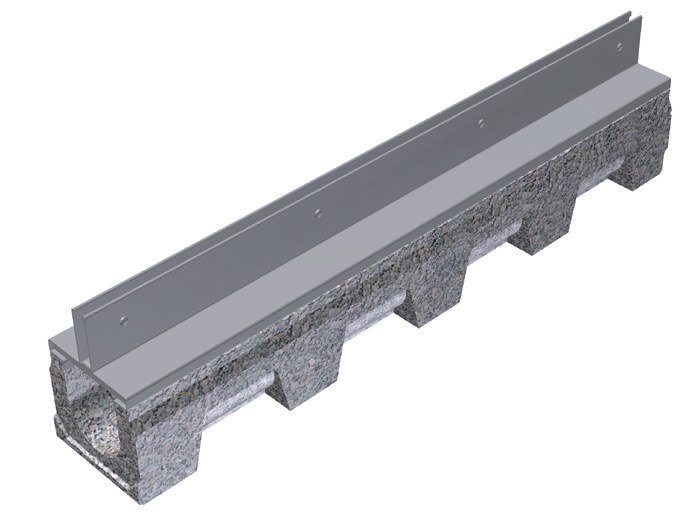 Cement Drainage channel and part THIN COVERING FOR VIBRO-BASE 100 by GRIDIRON GRIGLIATI