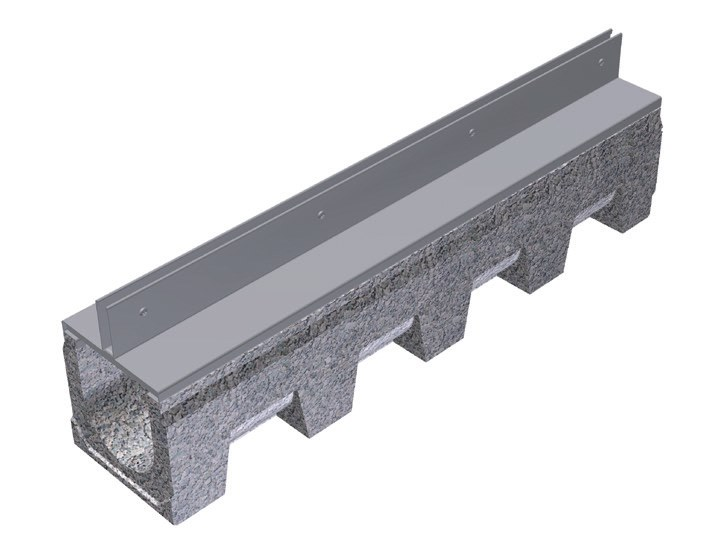 Cement Drainage channel and part THIN COVERING FOR VIBRO-BASE 150 by GRIDIRON GRIGLIATI