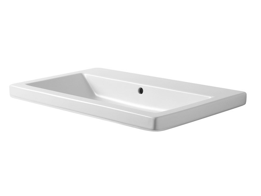 Rectangular wall-mounted ceramic washbasin THIN | Rectangular washbasin by Azzurra Ceramica