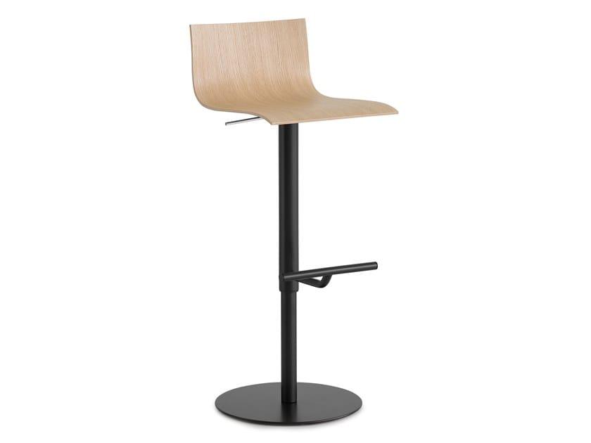 High swivel stool with back THIN | Stool by Lapalma