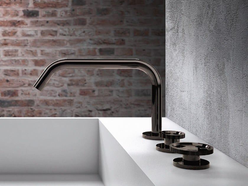 Robinet pour lavabo 3 trous à poser sans garniture d'écoulement TIBÒ - TIB12 by GEDA
