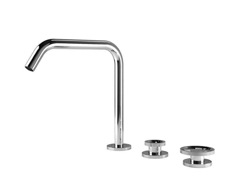 Robinet pour lavabo 3 trous à poser sans garniture d'écoulement TIBÒ - TIB13 by GEDA