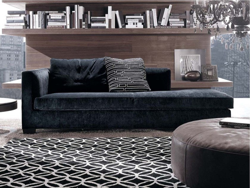 Upholstered fabric day bed TIBERIO   Day bed by Frigerio Salotti