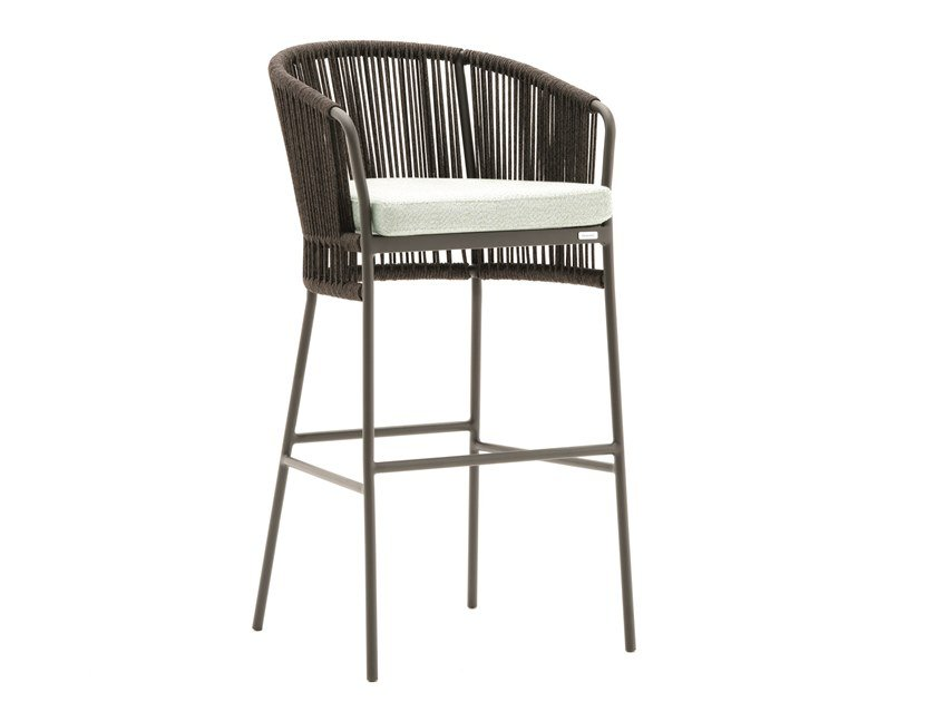 High powder coated aluminium garden stool TIBIDABO | High stool by Varaschin