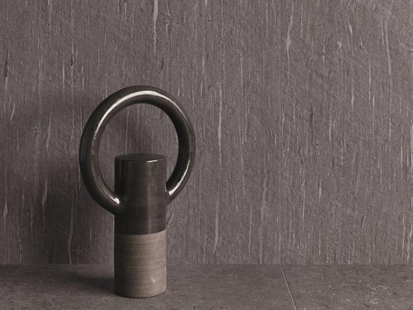 Pavimento/rivestimento in gres porcellanato effetto pietra per interni ed esterni TIDE ROAD GRAPHITE VEIN by Marca Corona