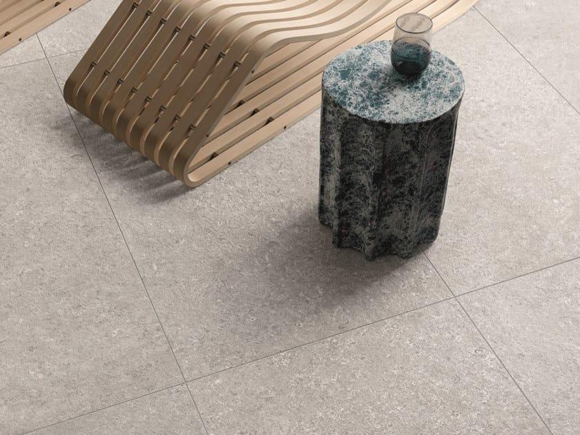 Pavimento/rivestimento in gres porcellanato effetto pietra per interni ed esterni TIDE ROAD PLATINUM CROSS by Marca Corona