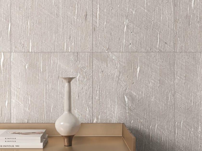 Pavimento/rivestimento in gres porcellanato effetto pietra per interni ed esterni TIDE ROAD PLATINUM VEIN by Marca Corona