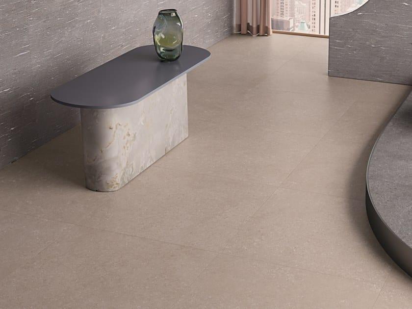 Pavimento/rivestimento ingelivo in gres porcellanato effetto pietra effetto pietra TIDE ROAD SAND CROSS by Marca Corona