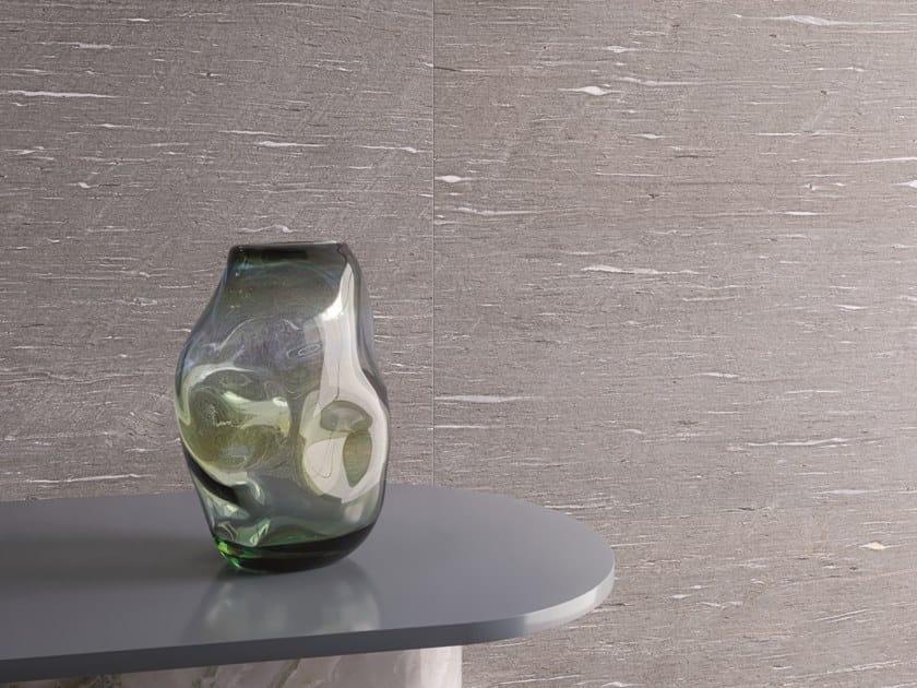 Pavimento/rivestimento in gres porcellanato effetto pietra per interni ed esterni TIDE ROAD SILVER VEIN by Marca Corona