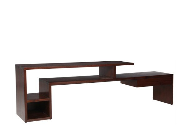 Rectangular solid wood console table TIER | Console table by WARISAN