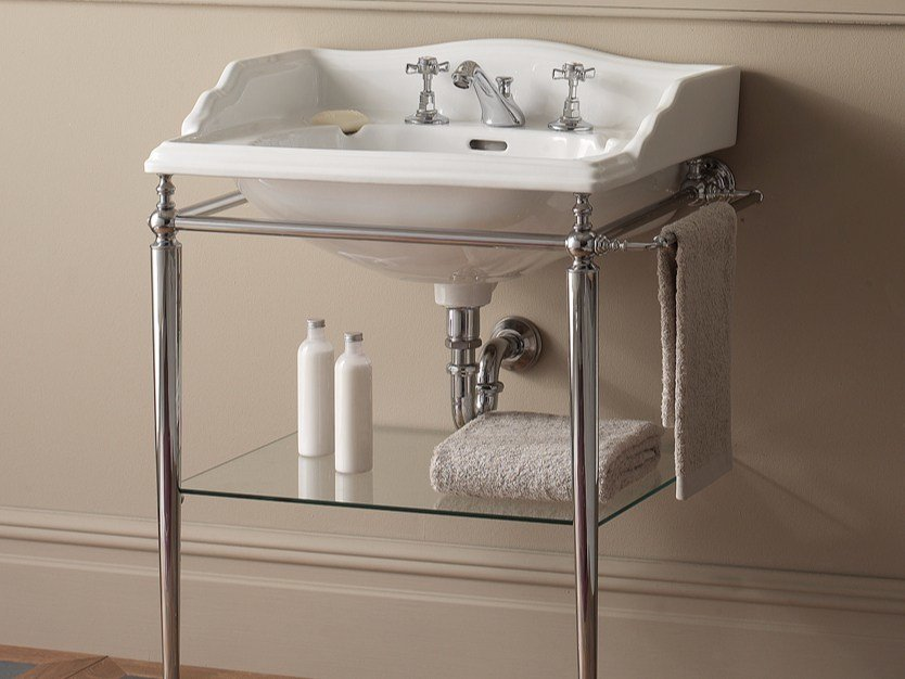 Chromed brass console sink TIFFANY by Devon&Devon