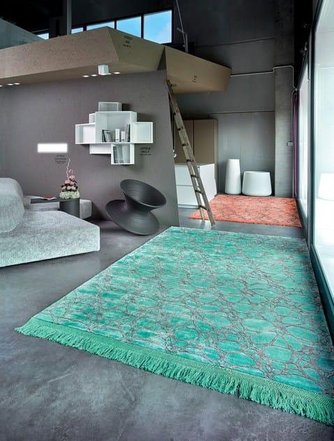 Rectangular silk rug TIFFANY by Italy Dream Design