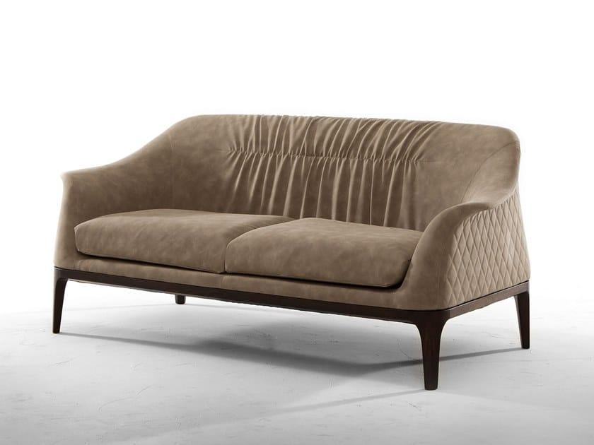 2 seater leather sofa TIFFANY | Sofa by Tonin Casa