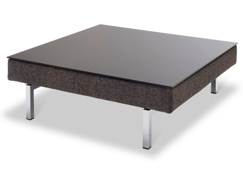 Low square glass coffee table TIGRA JR-T222 by JORI