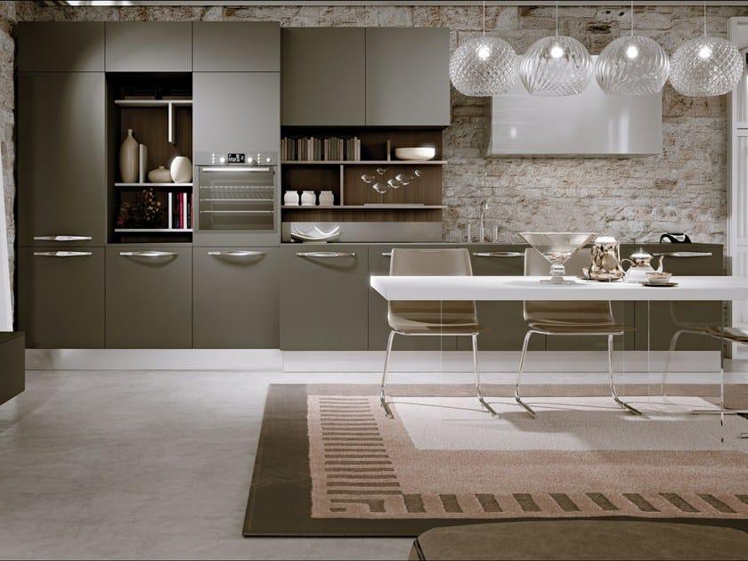 Cucina componibile lineare in legno TIGULLIO By SCIC