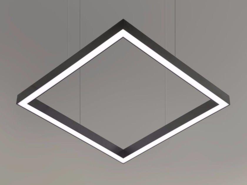 LED direct light pendant lamp TILE-D  9738 by Metalmek