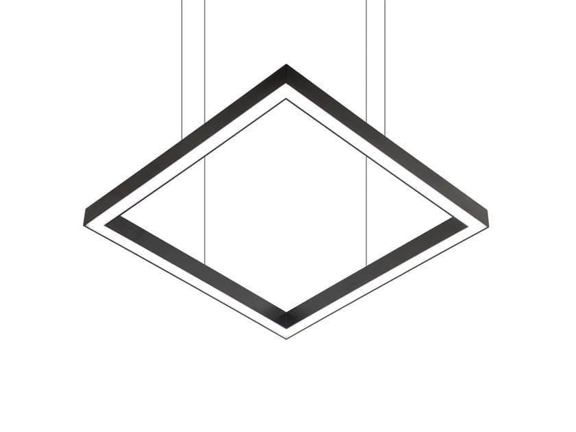 LED direct light aluminium pendant lamp TILE-D 9747 by Metalmek