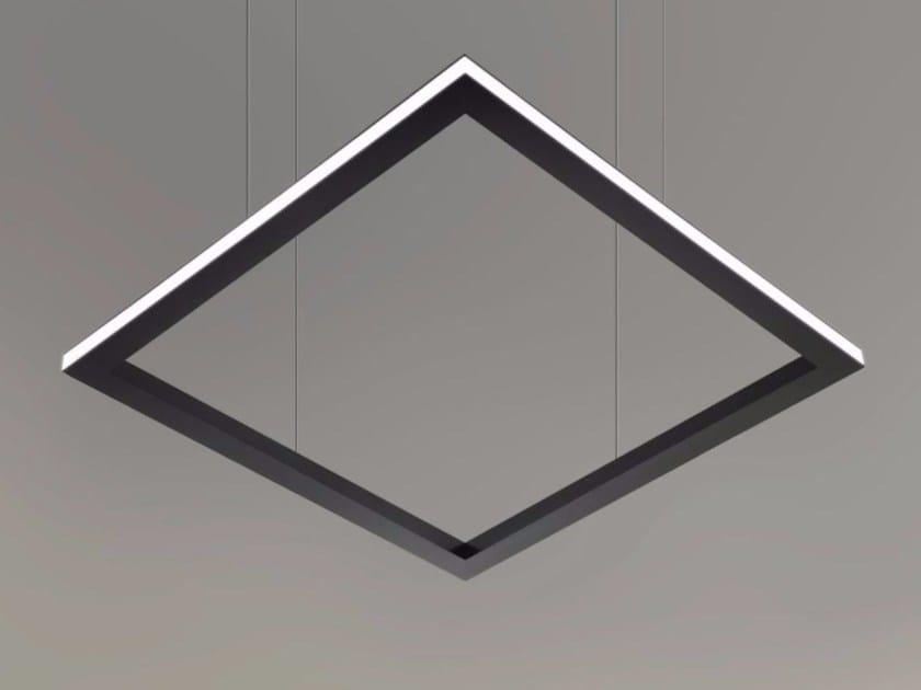 LED direct light pendant lamp TILE-H 9734 by Metalmek