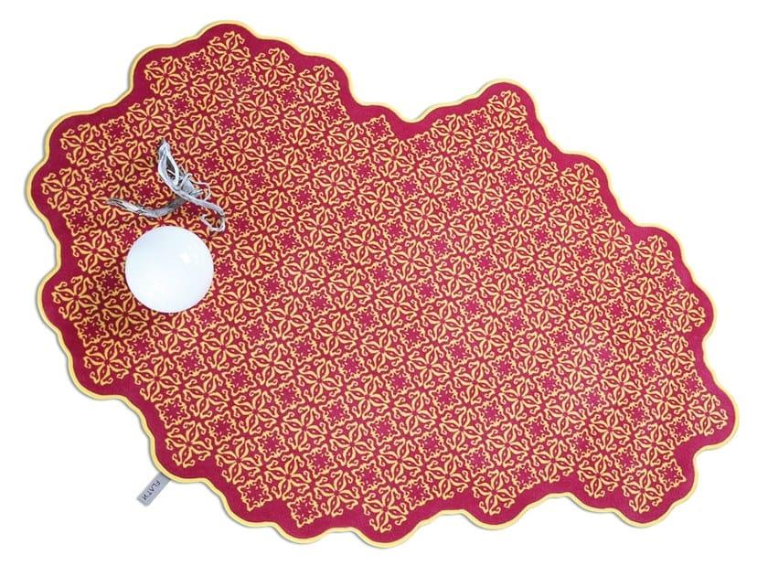 Wool rug TILES 003 by FLAT'N
