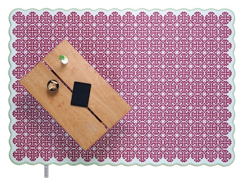 Wool rug TILES 005 by FLAT'N