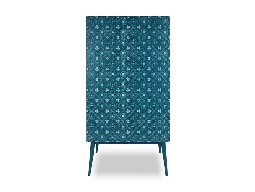 Lacquered wooden highboard with doors TILES | Wooden highboard by Barba design