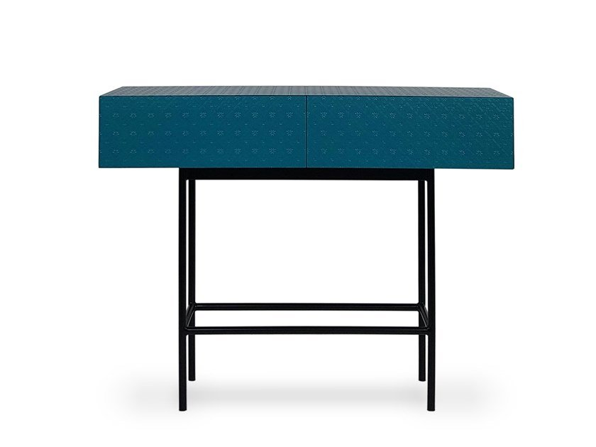 Lacquered rectangular HDF console table with drawers TILES | Console table by Barba design