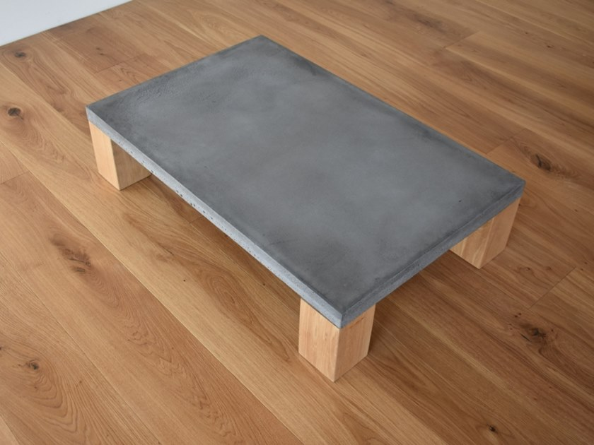 Rectangular concrete coffee table TIMBER by betton