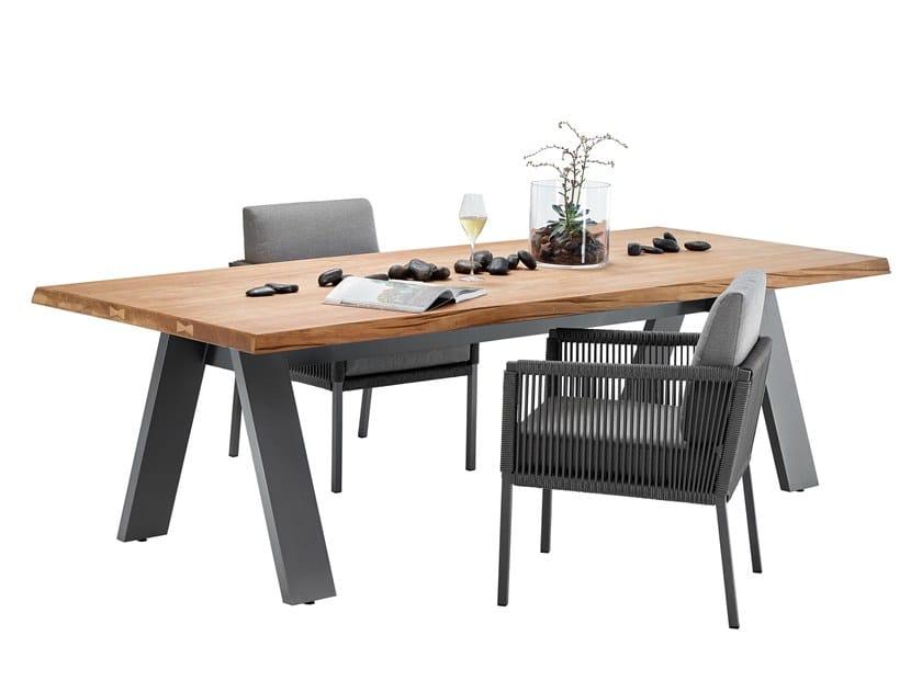 Rectangular teak garden table TIMBER by solpuri