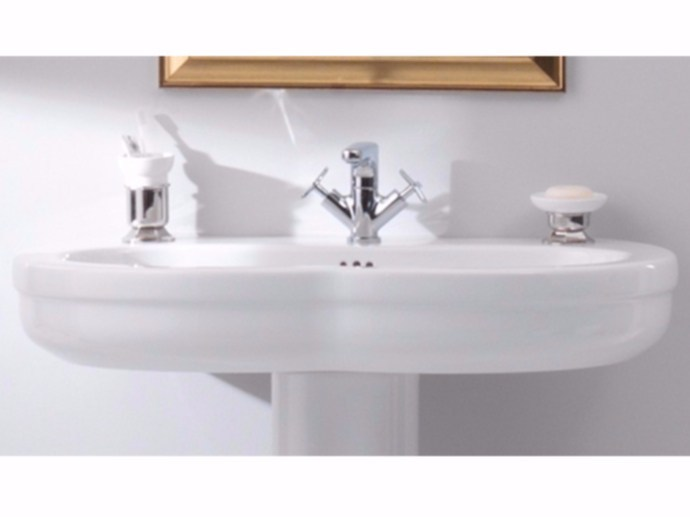 Classic style single ceramic washbasin TIME 95 CM | Washbasin by GSG Ceramic Design