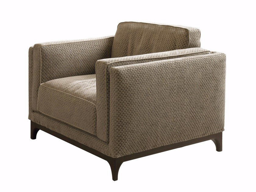 Fabric armchair with armrests TIME | Armchair by CTS SALOTTI