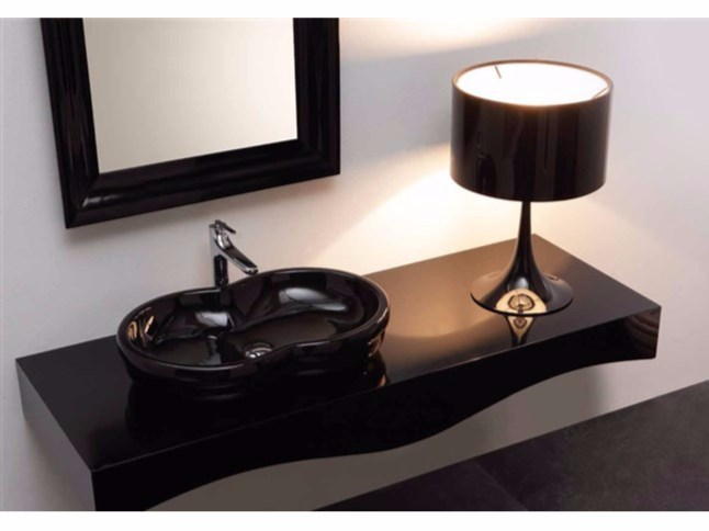 Countertop ceramic washbasin TIME | Countertop washbasin by GSG Ceramic Design