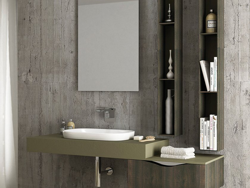 Wall-mounted vanity unit TIME DAY by Gran Tour