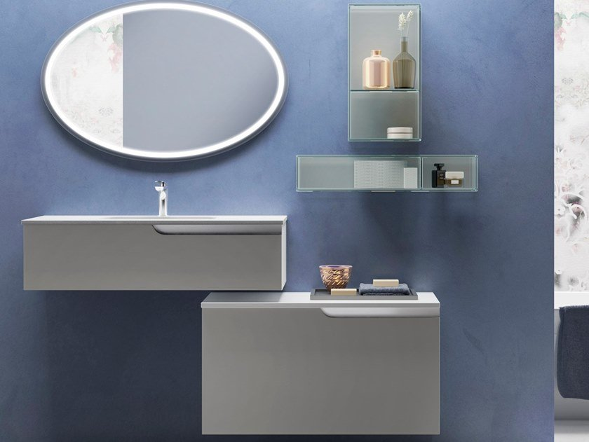 Wall-mounted vanity unit TIME POINT by Gran Tour