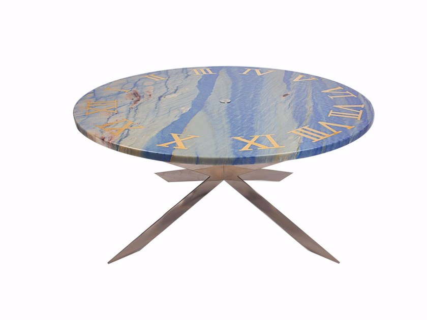 Round marble coffee table TIME by Placidia