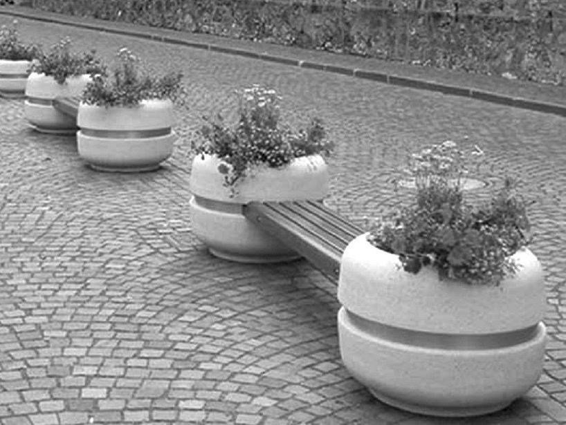 Bench with Integrated Planter TIMELESS COMBINED 820/1220/1620 by Bellitalia
