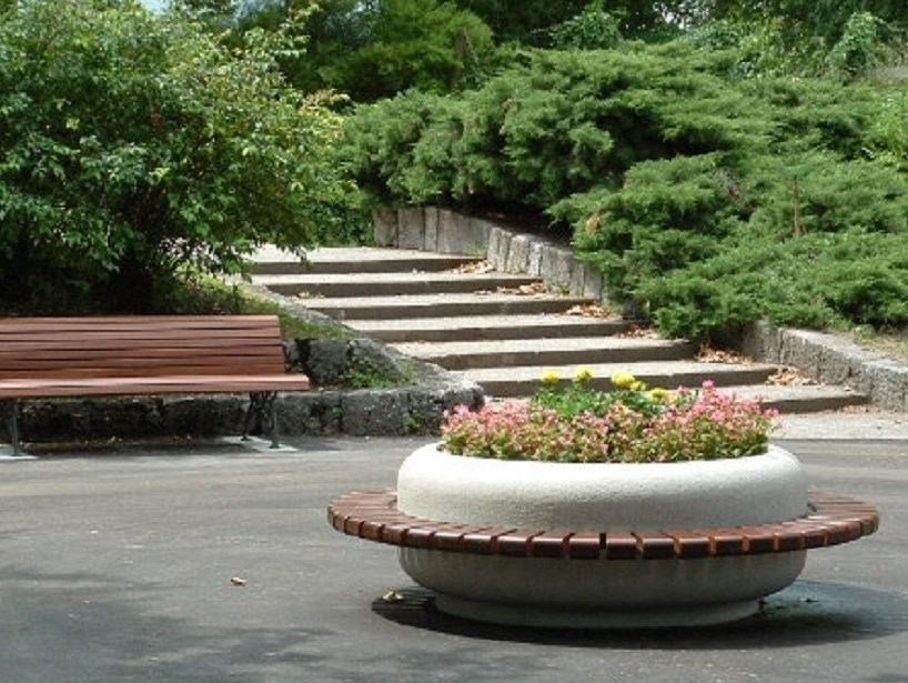 Round Bench with Integrated Planter TIMELESS COMBINED 1220/1620 by Bellitalia