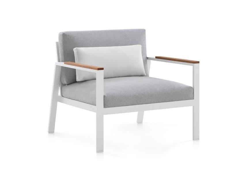 Fabric armchair with armrests TIMELESS   Armchair by GANDIA BLASCO
