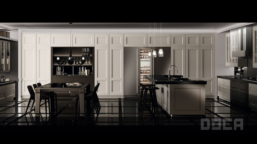 Classic style kitchen with island TIMELESS ROBLE BRACK / FORO TRANSPARENTE by Doca