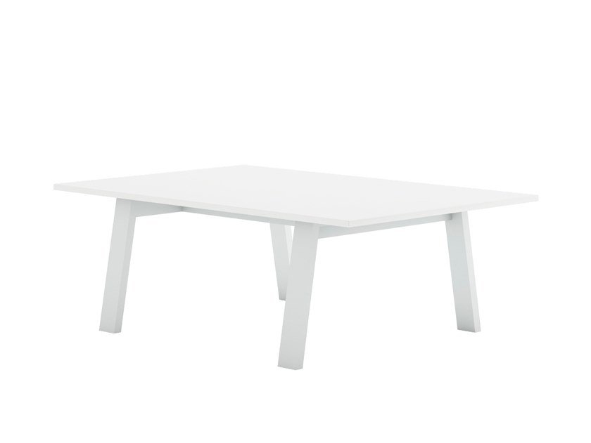 Rectangular thermo lacquered aluminium coffee table TIMELESS | Rectangular coffee table by GANDIABLASCO