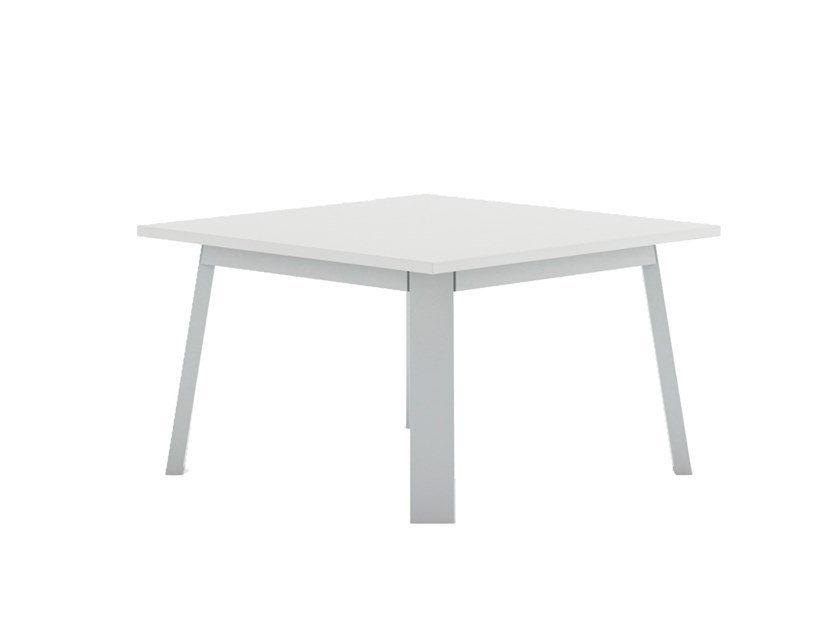 Square thermo lacquered aluminium coffee table TIMELESS | Square coffee table by GANDIABLASCO
