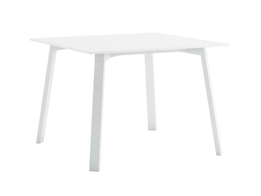 Square thermo lacquered aluminium table TIMELESS   Square table by GANDIABLASCO
