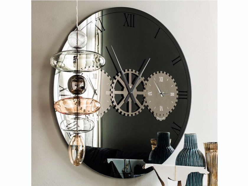Mirror / clock TIMES by Cattelan Italia