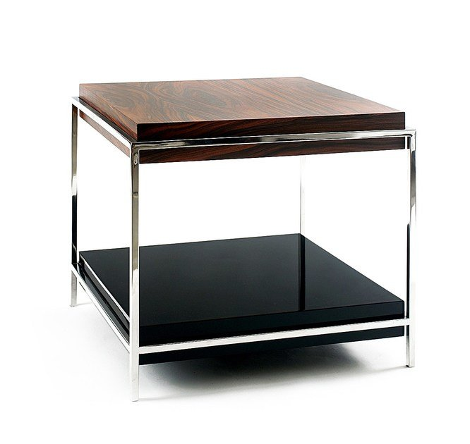 Lacquered Stainless Steel And Wood Coffee Table With Integrated Magazine  Rack TIMES By Boca Do Lobo