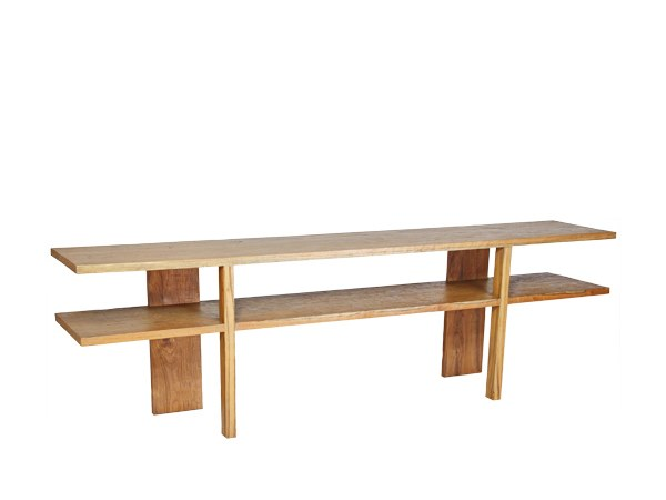 Rectangular solid wood console table TIMOR | Console table by WARISAN