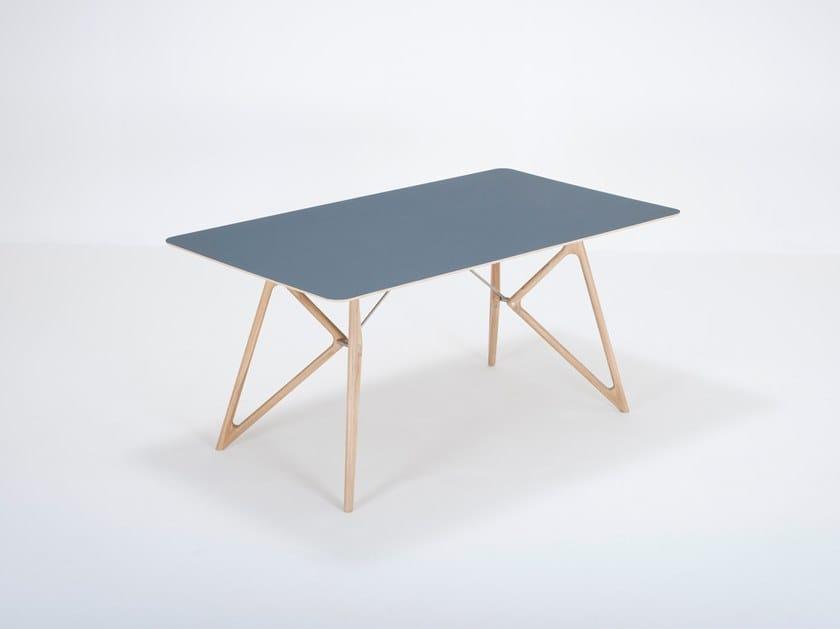 Rectangular linoleum dining table TINK | Linoleum table by Gazzda