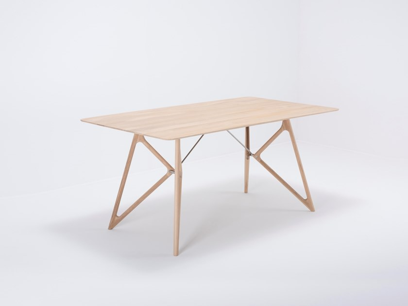 Rectangular oak dining table TINK   Oak table by Gazzda