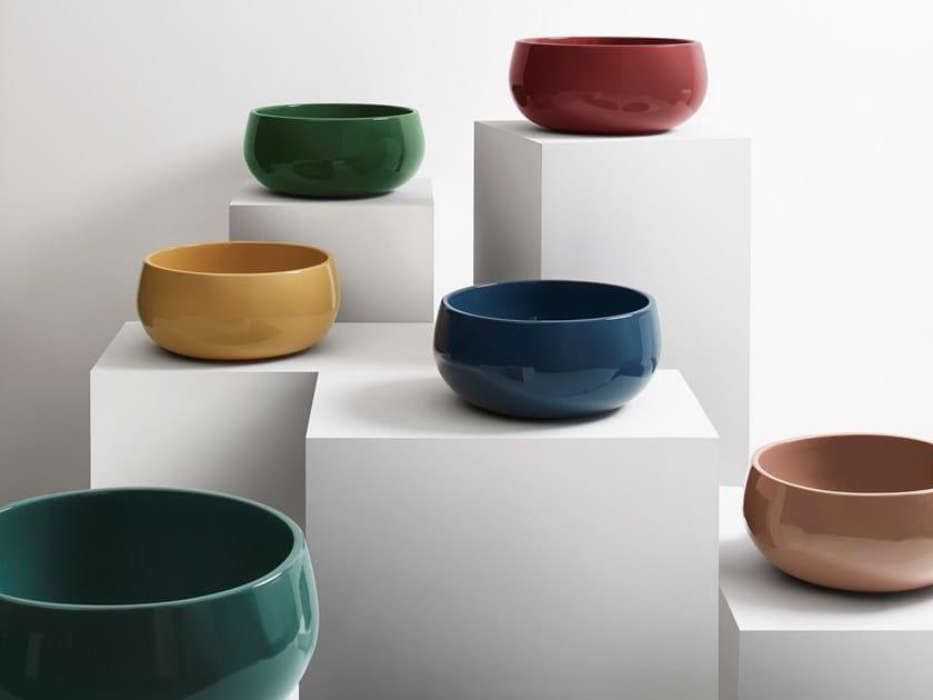 Lavabo da appoggio rotondo in ceramica TINO by Ceramica Cielo